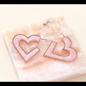 Mignonne Gavigan Heart Thread Gold Plated Earrings